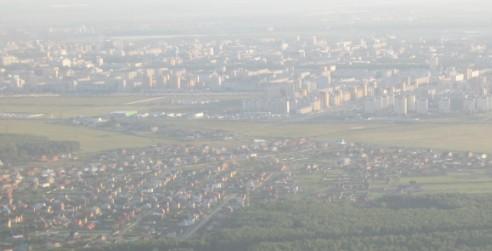 Тюмень - вид с самолета