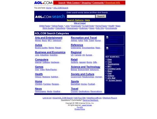 AOL Search 1999