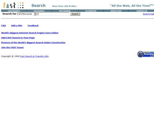Alltheweb 1999