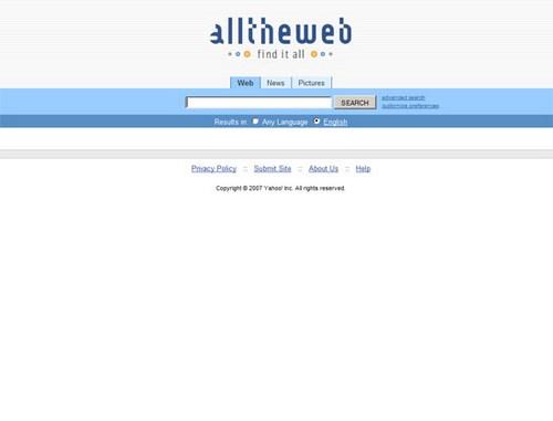 AlltheWeb 2009