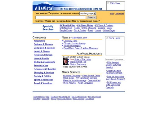 AltaVista 1998