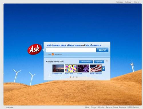 Ask Jeeves (сейчас Ask.com) 2009