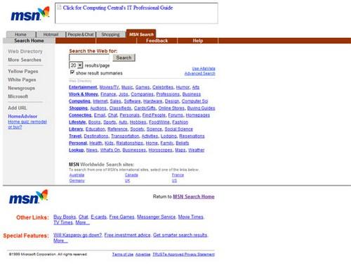 MSN (Bing) 1999