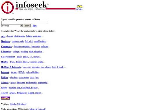 Infoseek (Go.com) 1997