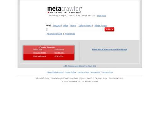 MetaCrawler 2009