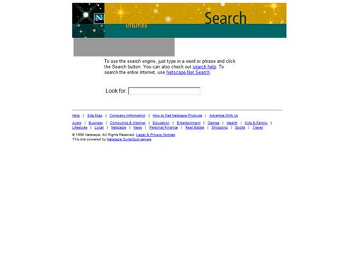 Netscape Search 1999