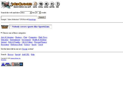 WebCrawler 1996