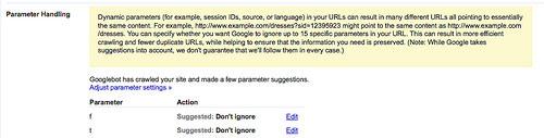 Parameter Handling - Панель Гугл Вебмастер