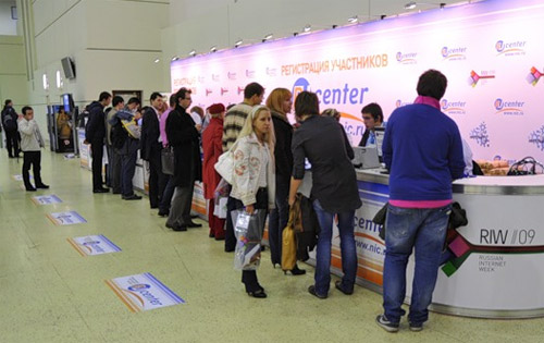 RIW–2009: Russian Internet Week. Регистрация участников