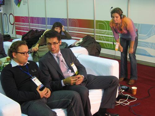 RIW–2009: Russian Internet Week. Василий Ткачев, Наиль Байков, Дарья Евдокимова.