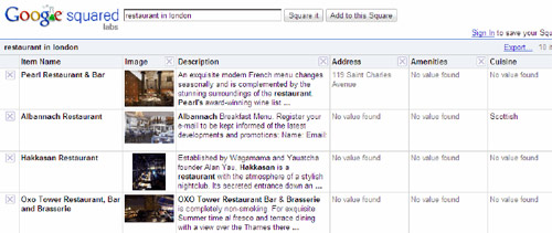 Квадраты Google