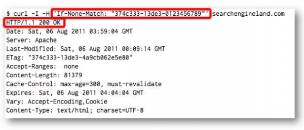 Если же Etag не совпадает, тогда сервер выдает нормальный код 200 OK