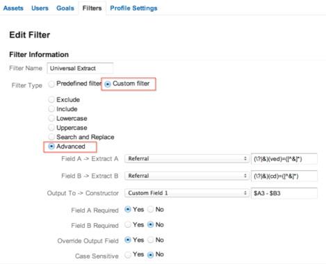 Настройка фильтров Google Analytics